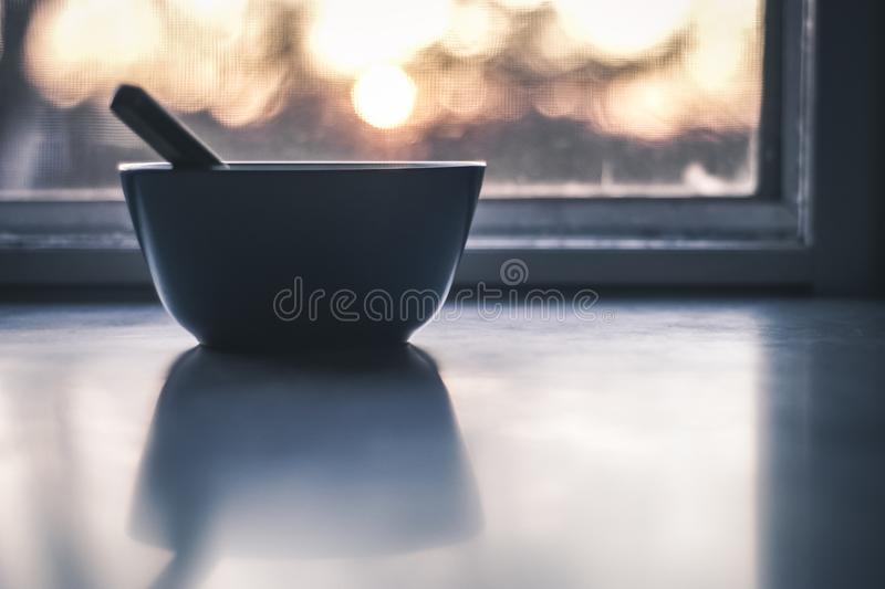 Focused Photography of Blue Ceramic Bowl stock photos