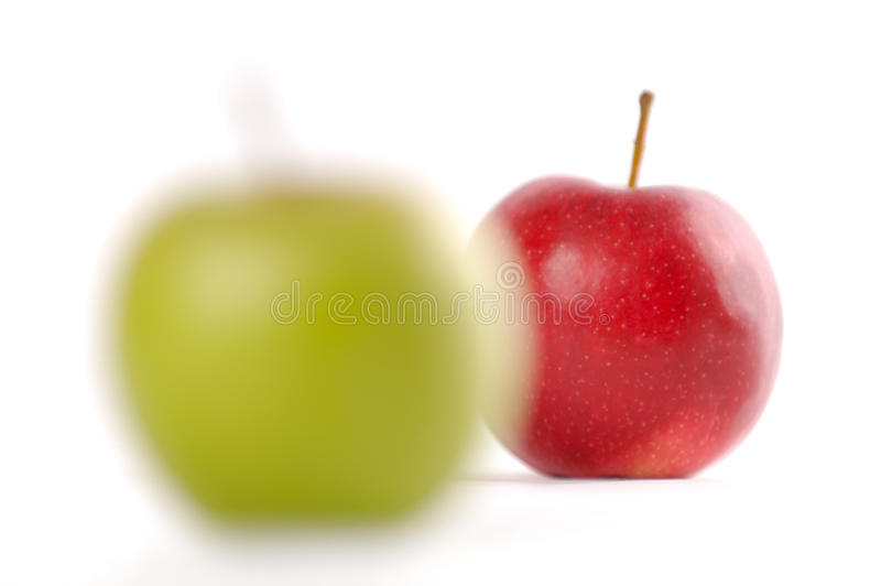 Focusing On Apples royalty free stock photography