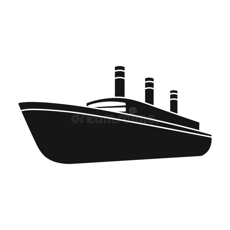 Fodera enorme del nero del carico Spedisca per trasporto dei temporali pesanti sul mare e sull'oceano Trasporto dell'acqua e dell illustrazione di stock