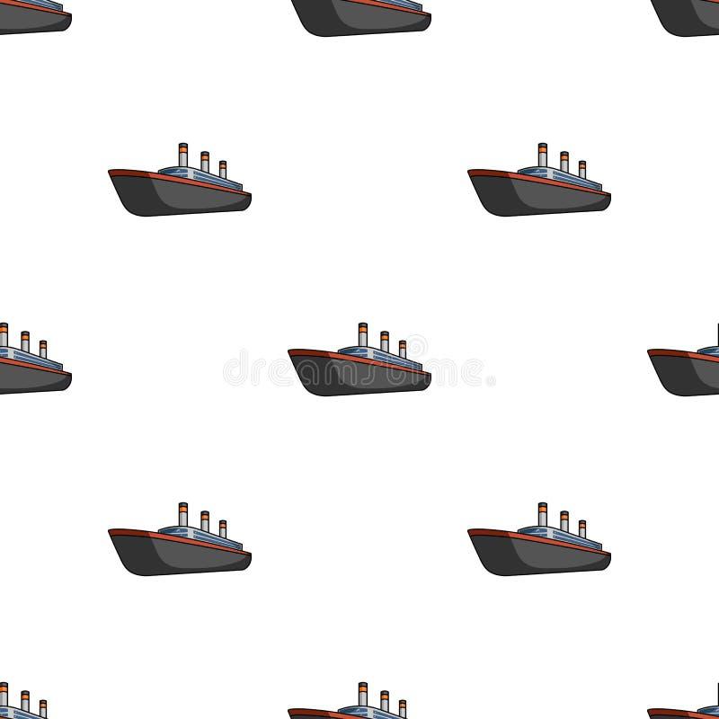 Fodera enorme del nero del carico Nave per trasporto illustrazione di stock