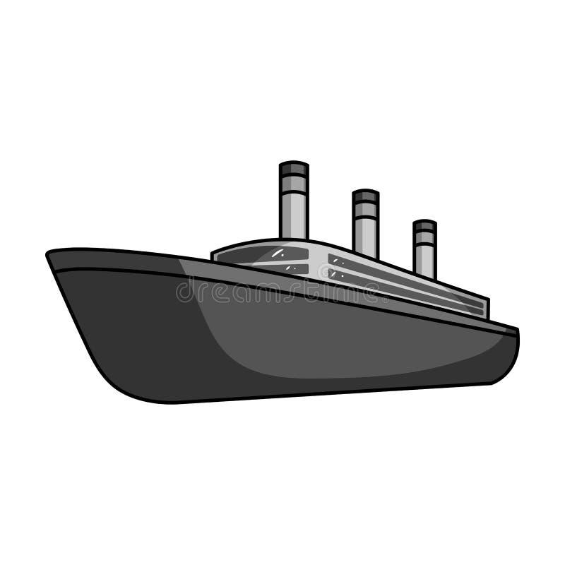 Fodera enorme del nero del carico Spedisca per trasporto dei temporali pesanti sul mare e sull'oceano Trasporto dell'acqua e dell royalty illustrazione gratis
