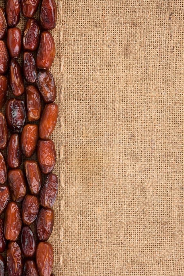 Fodra, datumet och säckväv för menyn arkivfoton