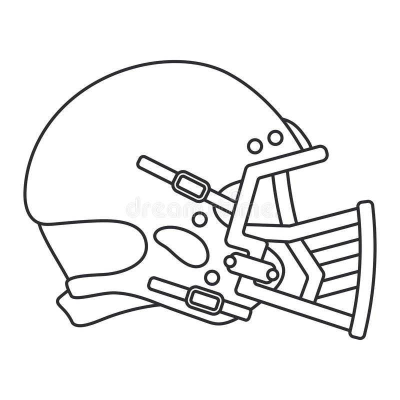 Fodra vektorsymbolshockey, rugby, baseballförsvarhjälm Symbol för framgång för sportutrustning Head skydd athirst royaltyfri illustrationer
