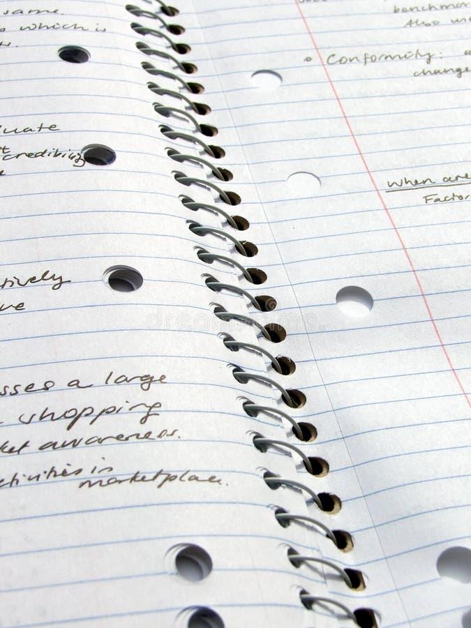 fodrad anteckningsbok arkivbild