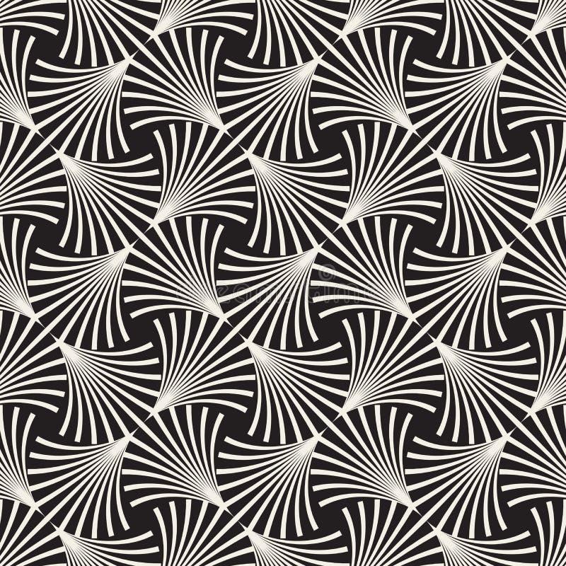 Fodrar den sömlösa svartvita bågen för vektorn rastermodellen stock illustrationer