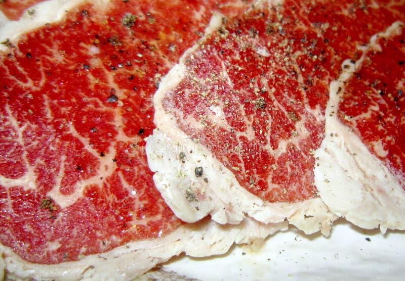 Högvärdig röd nötköttmeat royaltyfria foton