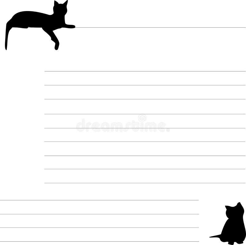 Fodrat ark med en katt arkivbild