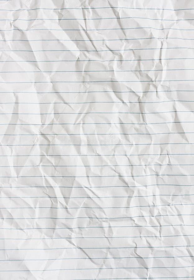 fodrat papper arkivbild