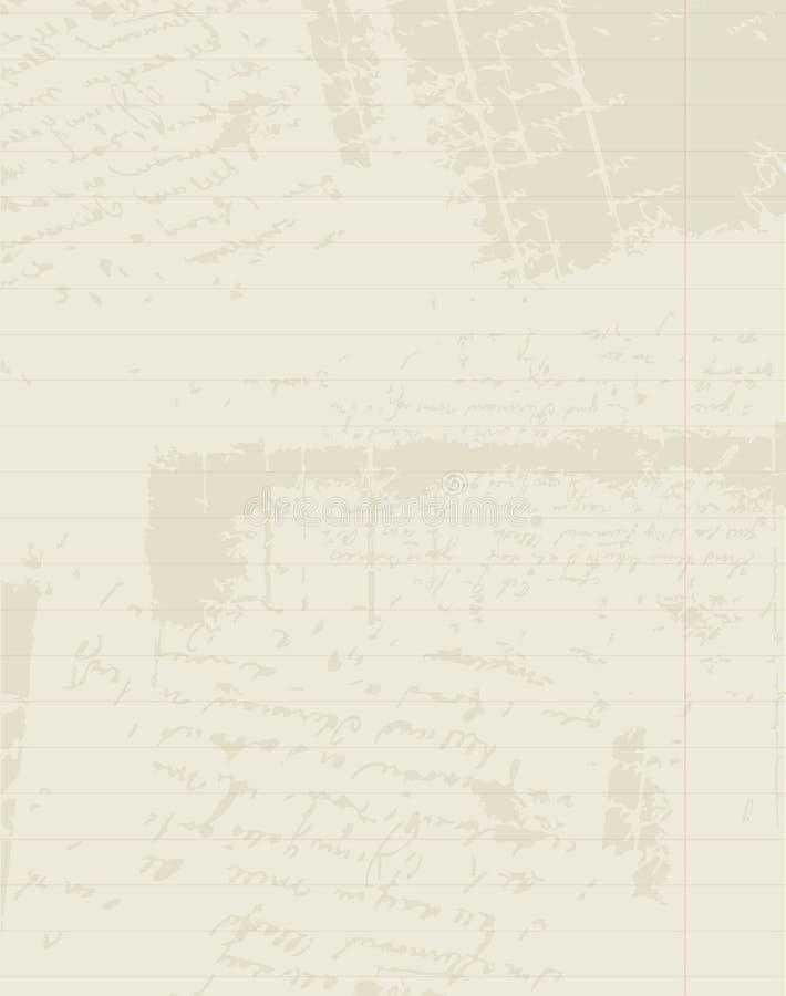 Fodrat papper av anteckningsboken, sätter in din text royaltyfri illustrationer