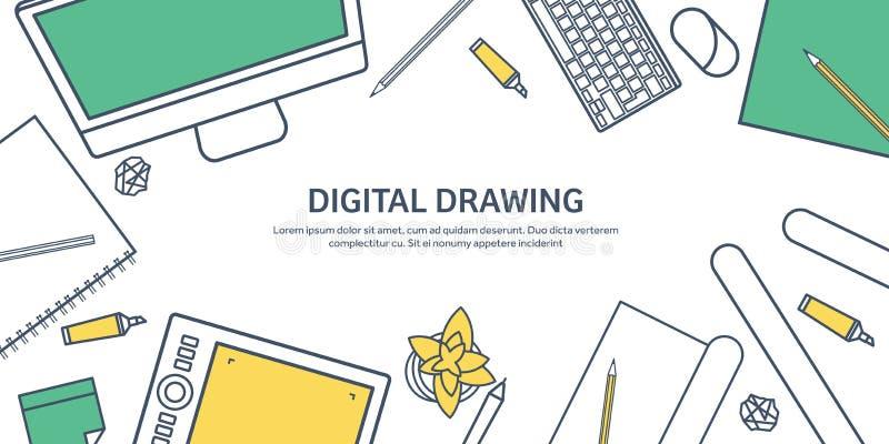 Fodrat plan grafisk rengöringsdukdesign för ouline Teckning och målning utveckling Illustration och skissa som är frilans- använd stock illustrationer