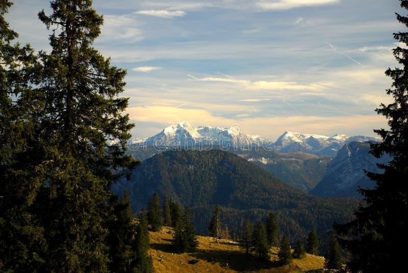 Foehn dans les Alpes images libres de droits