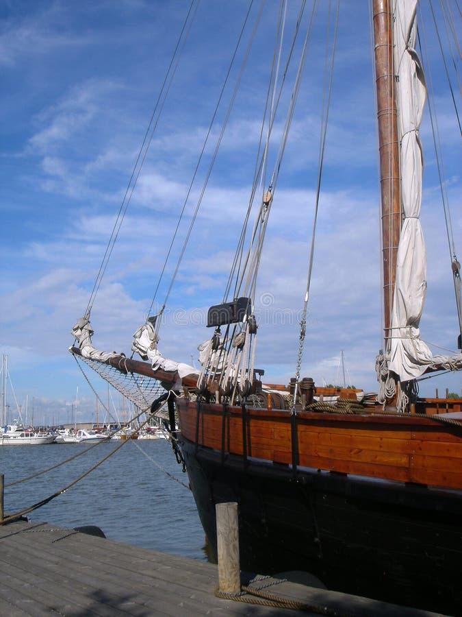 Foerage en mast van het oude schip royalty-vrije stock fotografie
