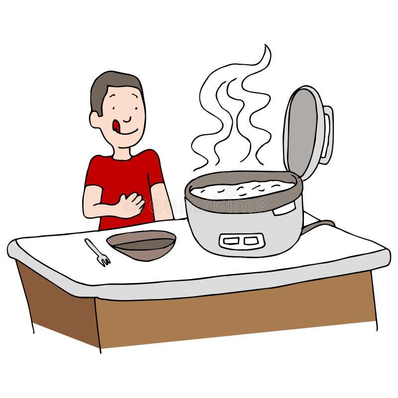Fogão de arroz ilustração do vetor