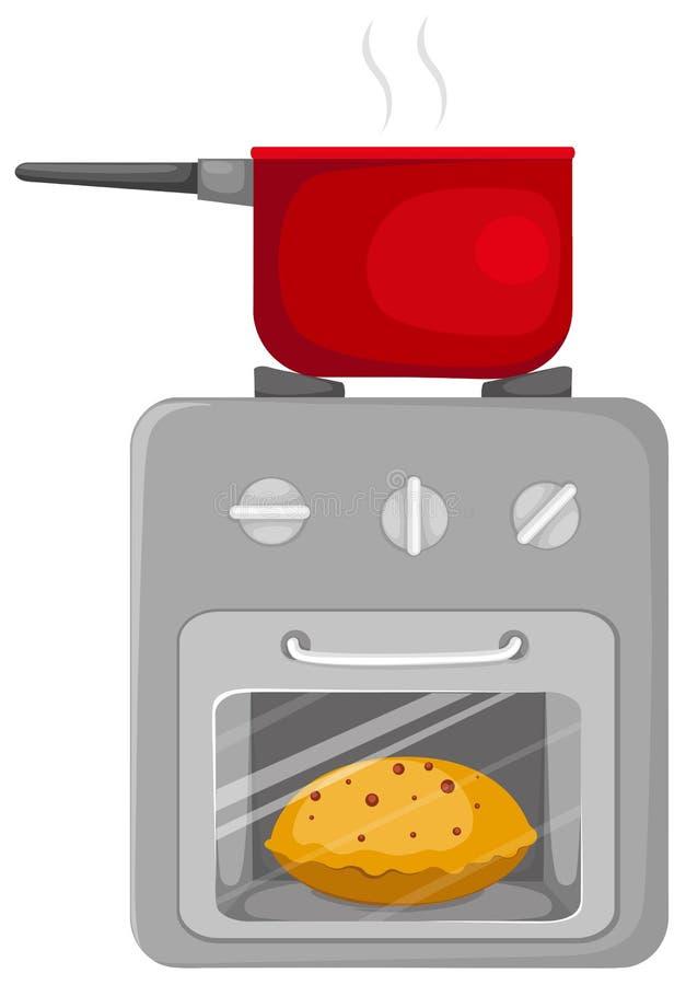 Fogão de cozinha ilustração stock