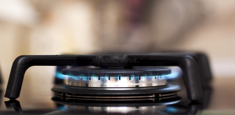 Fogão de gás fotografia de stock royalty free