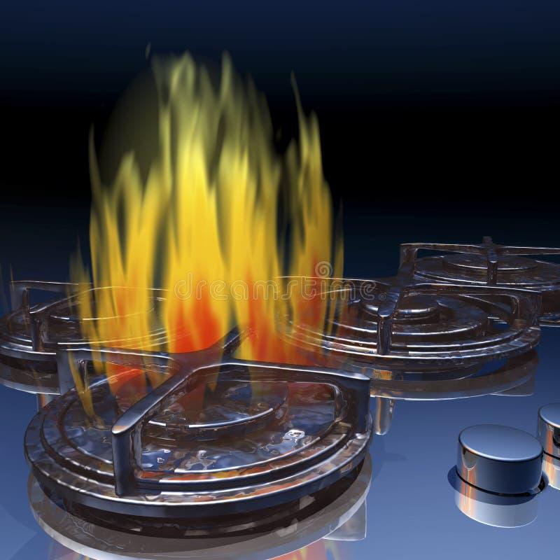 Fogão de gás ilustração do vetor