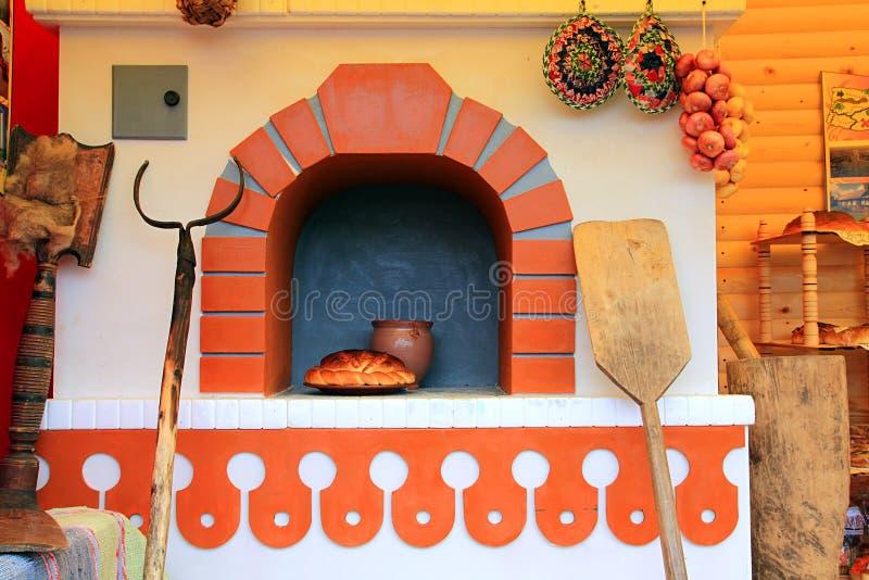 Fogão russian decorativo foto de stock