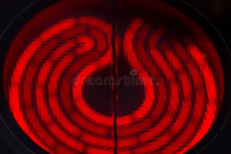 Fogões cerâmicos encarnados do fogão elétrico foto de stock