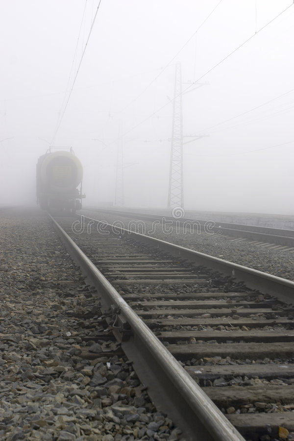 Fog. Railroad and fog stock images