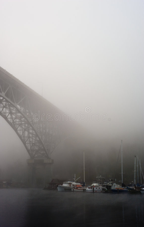 Free Fog And Steeel Bridge. Seattle, USA Stock Image - 7848991