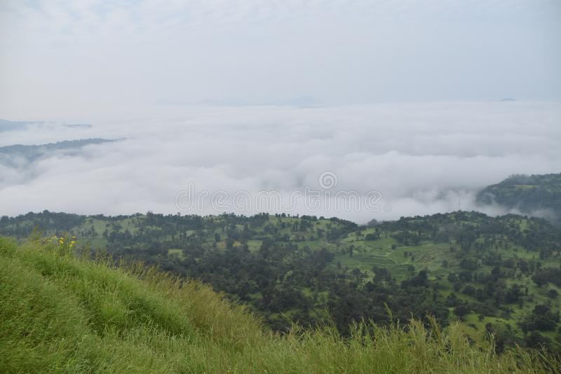 Fog in background stock photography