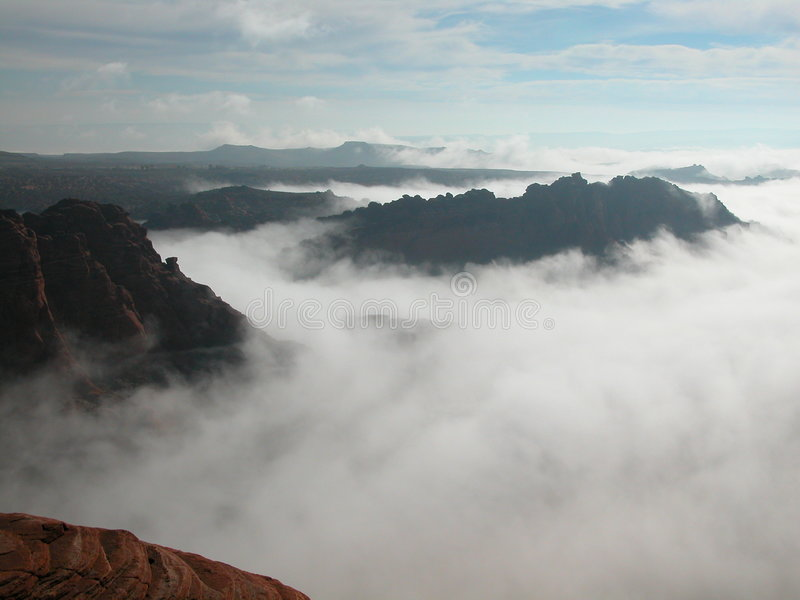 Download Fog Choking the Red Desert stock photo. Image of ground - 165540