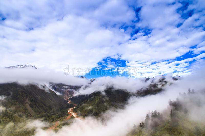 fog and cloud in the mountain royalty free stock images