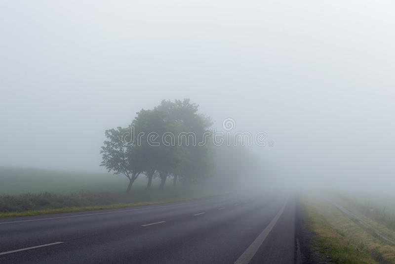 Fog On Country Road Free Public Domain Cc0 Image