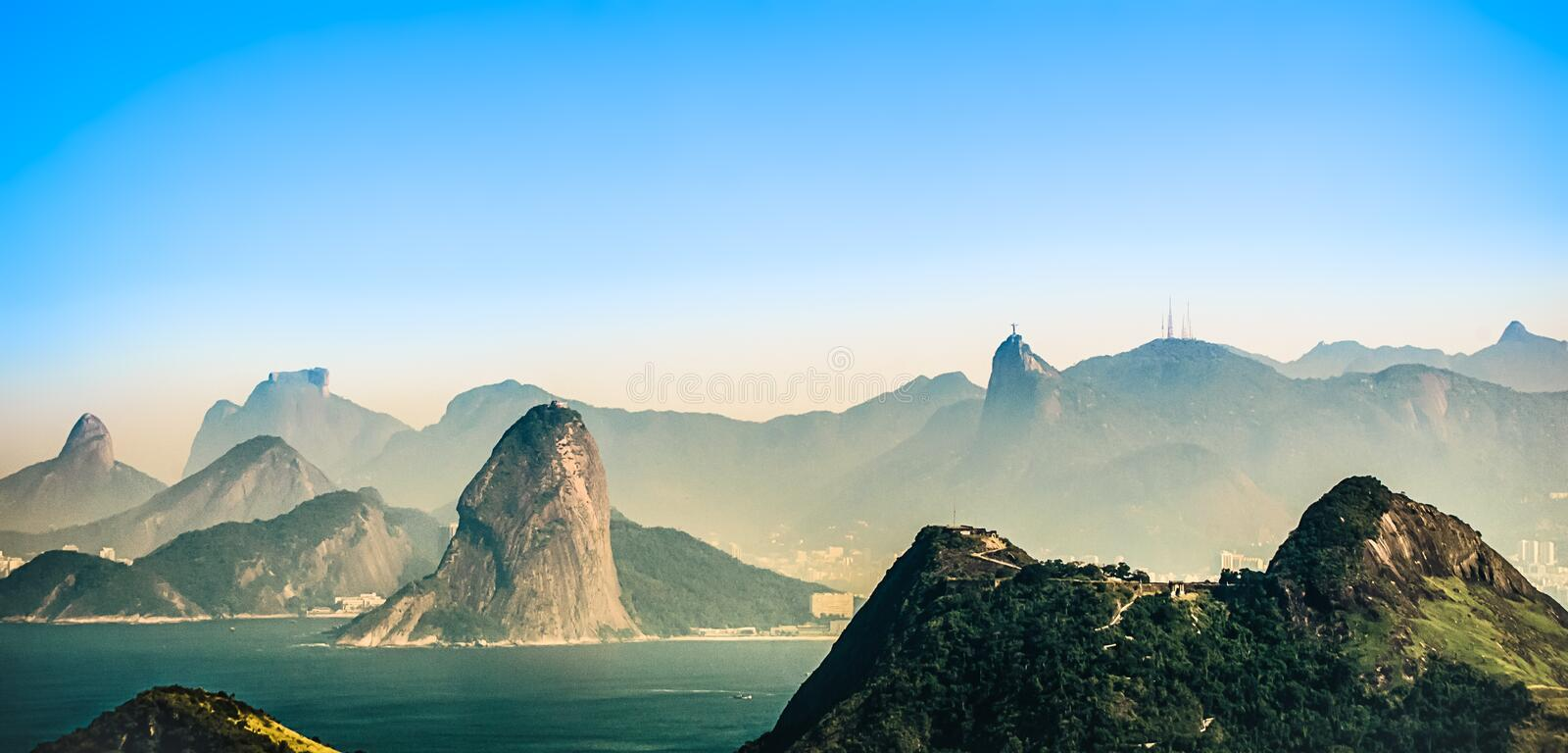 Fog Covered Mountains during Daytime royalty free stock photo