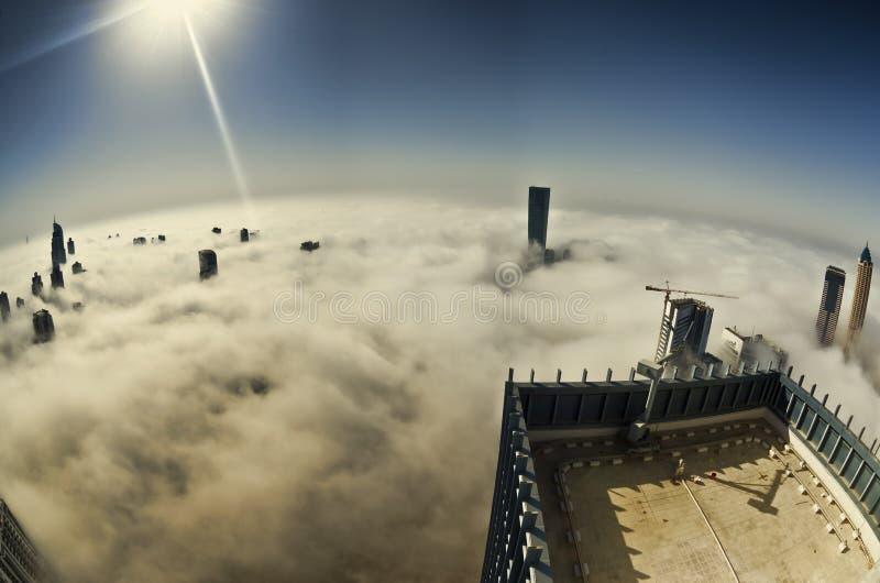 Fog in Dubai stock images