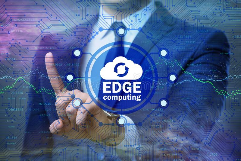 Fog and edge cloud computing concept. The fog and edge cloud computing concept royalty free stock photography