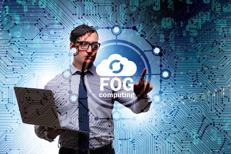 Fog and edge cloud computing concept. The fog and edge cloud computing concept stock photos