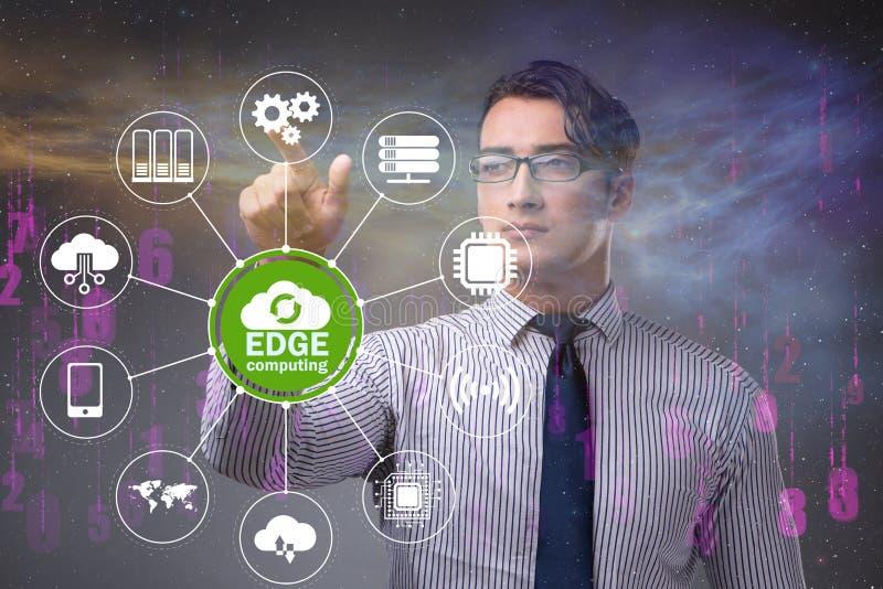 Fog and edge cloud computing concept. The fog and edge cloud computing concept royalty free stock photo