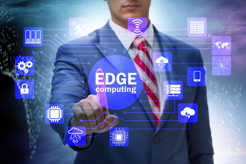 Fog and edge cloud computing concept. The fog and edge cloud computing concept royalty free stock images