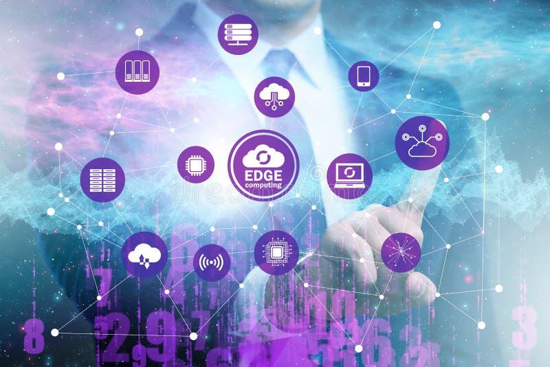 Fog and edge cloud computing concept. The fog and edge cloud computing concept stock photo