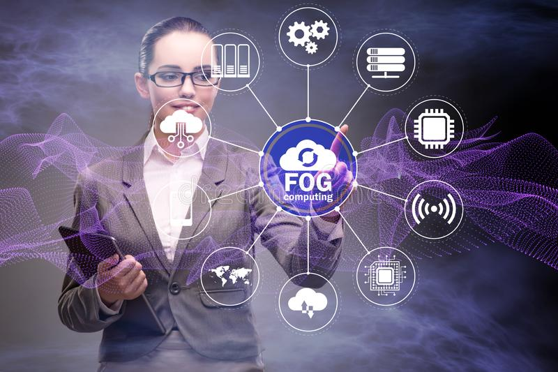 Fog and edge cloud computing concept. The fog and edge cloud computing concept stock images