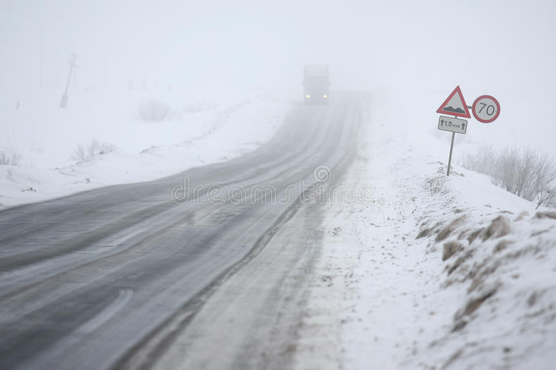 Download Fog and ice on road stock photo. Image of speeds, broken - 21752776