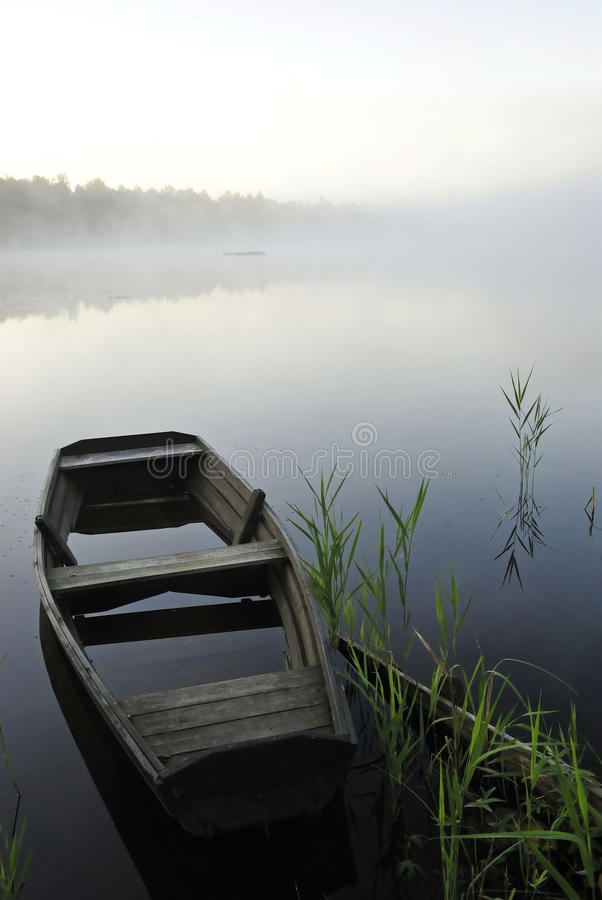 Fog On The Lake Stock Image