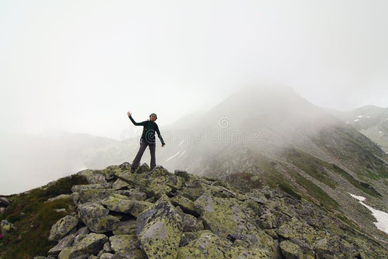 Fog on mountain royalty free stock photo