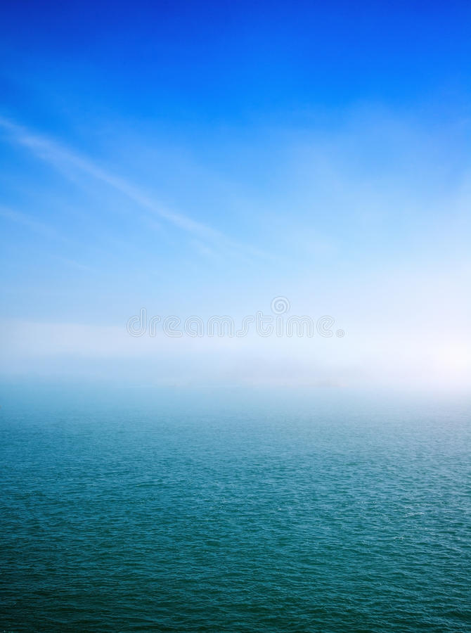 Fog Over Detroit River South royalty free stock image