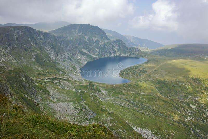 Fog Over the Kidney lake, The Seven Rila Lakes. Bulgaria stock photos