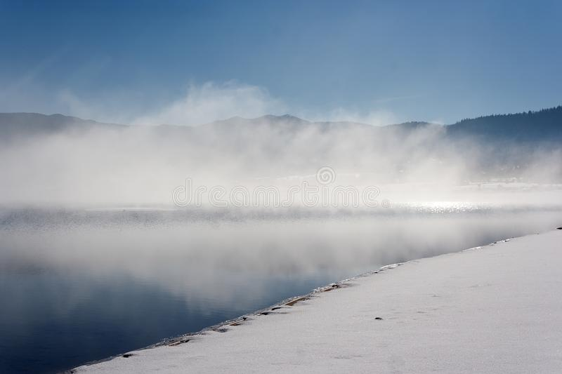 Download Fog Over Lake In Winter Stock Images - Image: 28716494