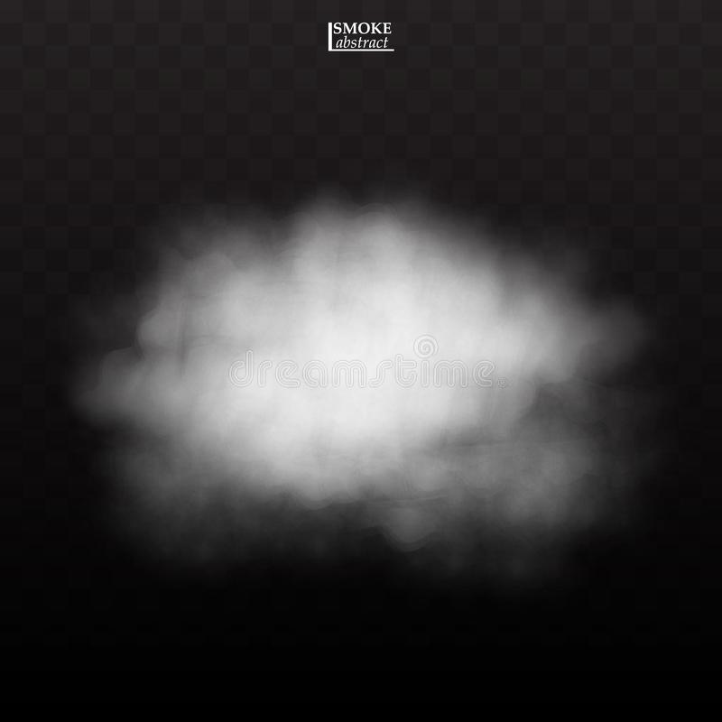 Fog smoke cloud  on transparent background royalty free illustration