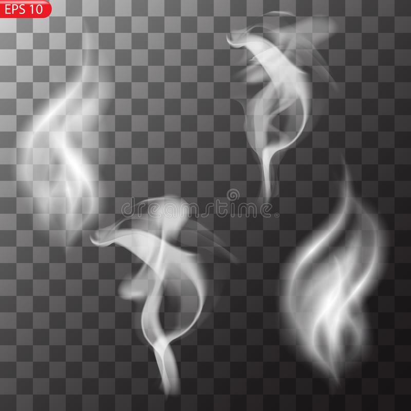 Fog or smoke isolated transparent special effect vector illustration