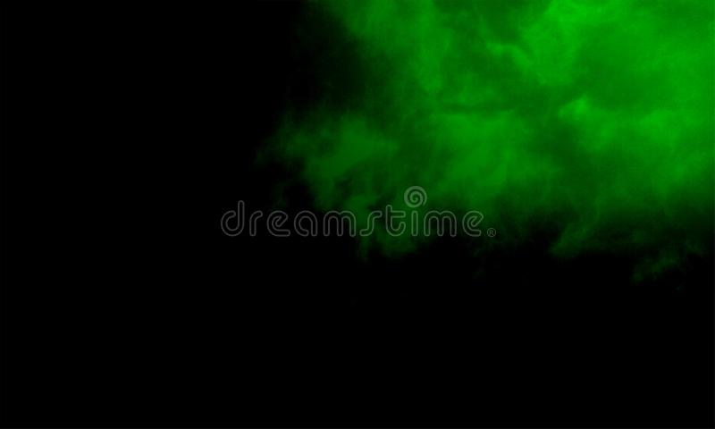 Fog or smoke special effect. cloudiness, mist or smog background. Vector illustration. Abstract fog or smoke move on black color background.Smoke fragments on a royalty free illustration