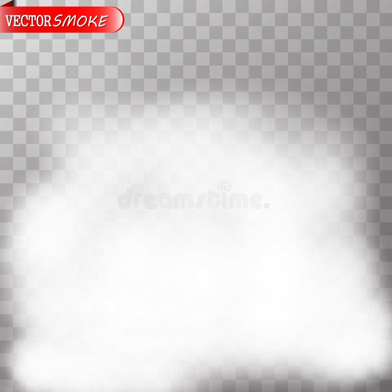 Fog or smoke transparent special effect. royalty free illustration