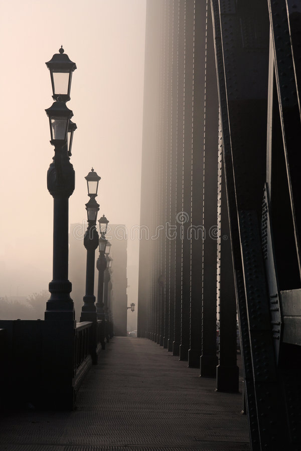 The fog on the Tyne stock image
