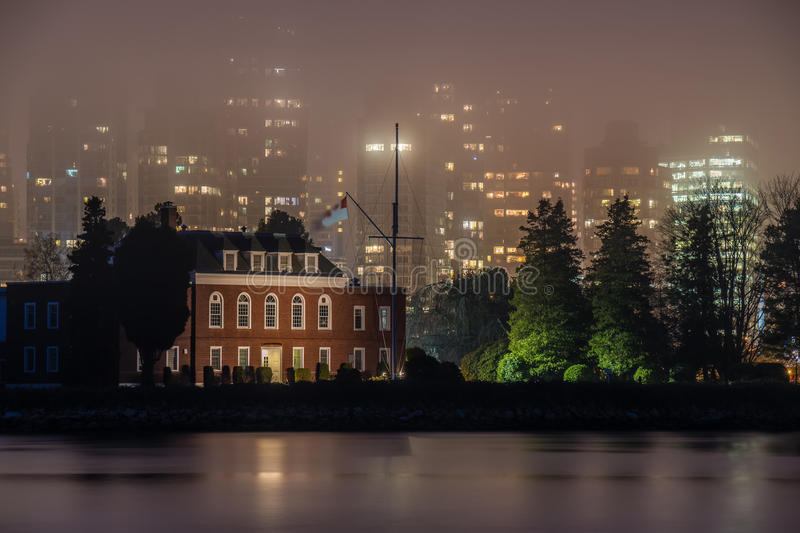 Fog in Vancouver royalty free stock image