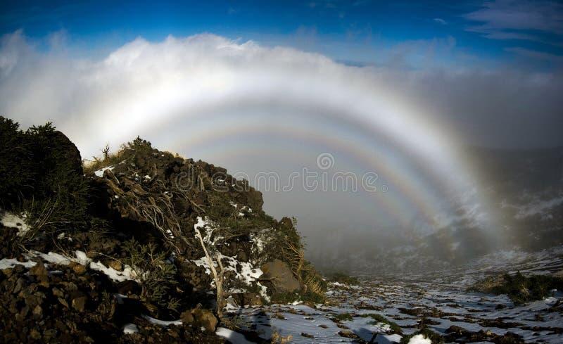 Fogbow in La Palma royalty free stock photos