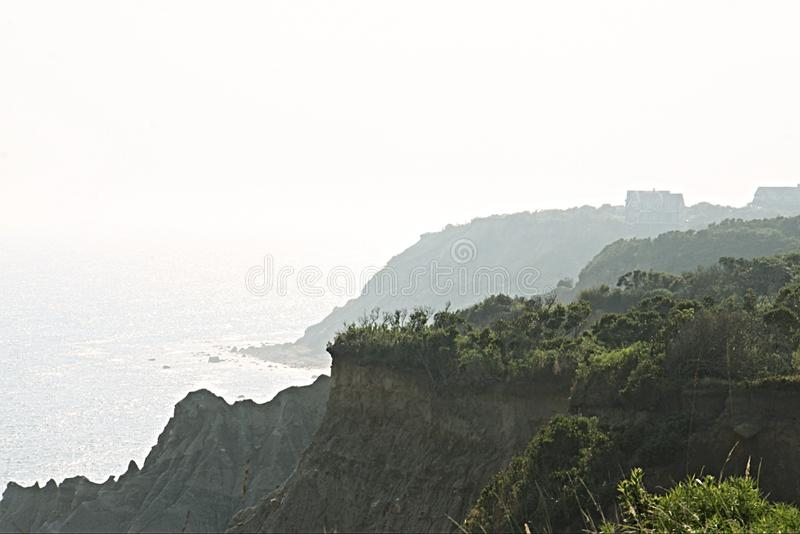 Foggy Bluffs royalty free stock photography